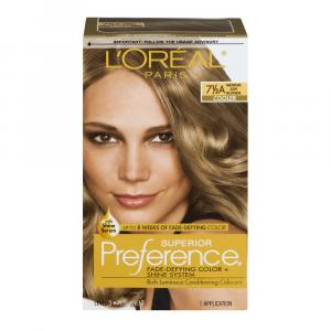 L'Oreal Preference #7.5A Medium Ash Blonde Hair Color