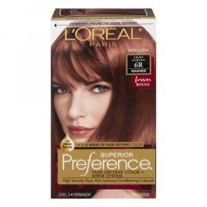 L'Oreal Preference #6R Light Auburn Hair Color