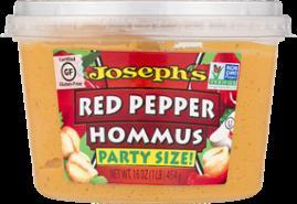 Joseph's Roasted Red Pepper Hommus