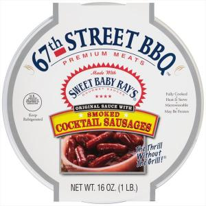 67th Street Bbq Smoked Cocktail Sausages With Sauce