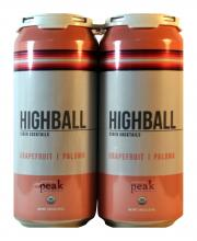 Peak Organic Brewing Co. HighBall Grapfruit Cider Cocktail
