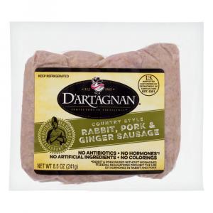 D'Artagnan Rabbit and Ginger Sausage