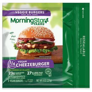 Morningstar Farms 1/4 Vegan Cheezeburger