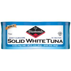 Ace of Diamonds Solid White Tuna in Water