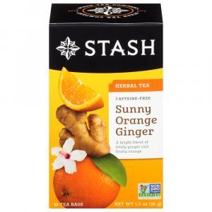 Stash Sunny Orange Ginger Caffeine Free Herbal Tea Bags