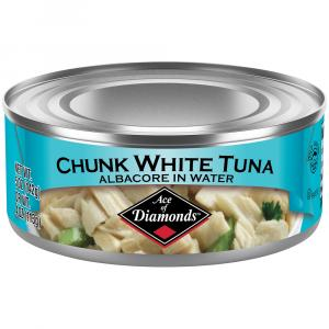 Ace of Diamonds Chunk White Tuna in Water