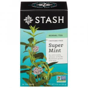 Stash Super Mint Caffeine Free Herbal Tea Bags