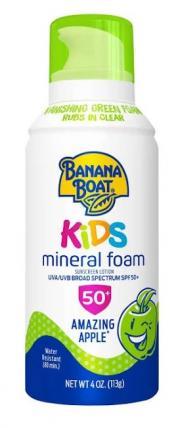 Banana Boat Kids Mineral Foam Apple Scent SPF 50