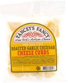 Yancey's Fancy Roasted Garlic Cheddar Cheese Curds