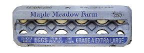 Maple Meadow Farm Extra Large White Eggs