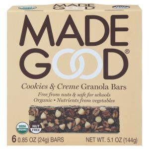 Made Good Organic Cookies & Cream Granola Bars