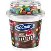 YoCrunch Low Fat Strawberry Yogurt with M&Ms