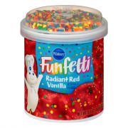 Pillsbury Radiant Red Vanilla Funfetti Frosting