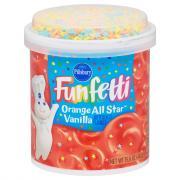 Pillsbury Funfetti Orange All Star Vanilla Frosting