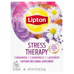 Lipton Stress Less Caffeine Free Herbal Supplement Tea Bags
