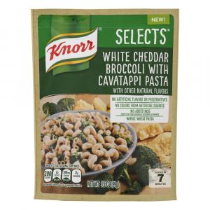 Knorr Selects White Cheddar Broccoli With Cavatappi Pasta