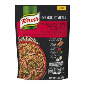 Knorr One Skillet Meals Steak & Peppers Brown Rice