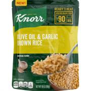 Knorr Ready To Heat Olive Oil & Garlic Brown Rice