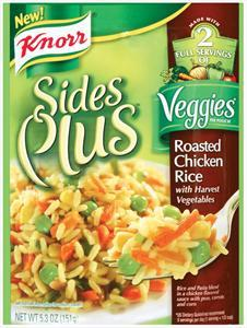 Knorr Sides Plus Veggies Roasted Chicken Rice W/harvest Veg
