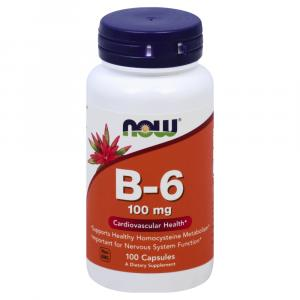 NOW Vitamin B-6 100 mg Capsules