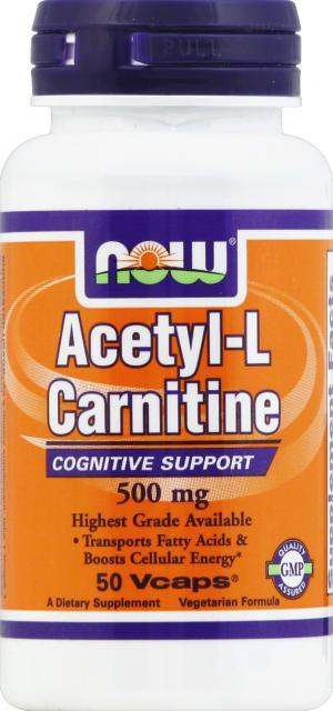 Now Acetyl-carnitine 500 Mg