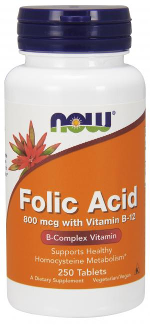 NOW Folic Acid 800 mcg