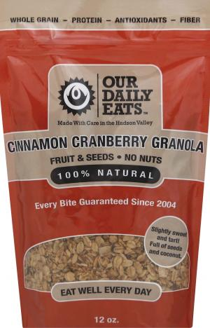 Our Daily Eats Cinnamon Cranberry Granola