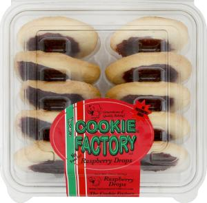 The Cookie Factory Raspberry Drops Cookies