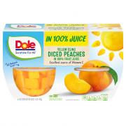 Dole Diced Peaches Fruit Bowls