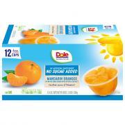 Dole No Sugar Added Mandarin Oranges Fruit Cups