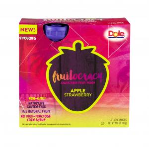Dole Fruitocracy Squeezable Fruit Pouch Apple Strawberry