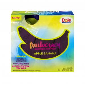 Dole Fruitocracy Squeezable Fruit Pouch Apple Banana