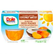 Dole Diced Peaches in Coconut Water Cups