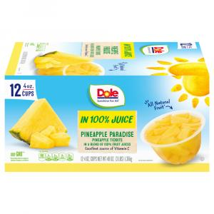 Dole Pineapple Paradise Pineapple Tidbits in 100% Juice Cups