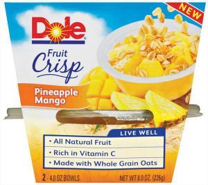 Dole Fruit Crisp Pineapple Mango Bowls