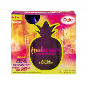 Dole Fruitocracy Squeezable Fruit Pouch Apple Pineapple