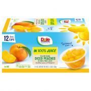 Dole Diced Peaches in 100% Fruit Juice Fruit Cups