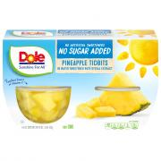 Dole No Sugar Added Pineapple Tidbits