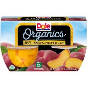 Dole Organics Diced Peaches In 100% Fruit Juice