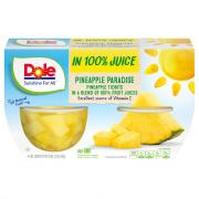 Dole Pineapple Tidbits Bowl in 100% Juice