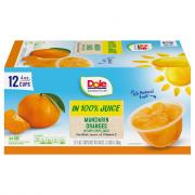 Dole Mandarin Oranges in 100% Fruit Juice Fruit Cups