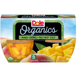 Dole Organics Mango Chunks In 100% Fruit Juice