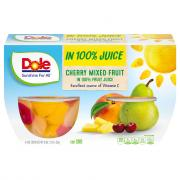 Dole Cherry Mixed Fruit Bowls in 100% Juice