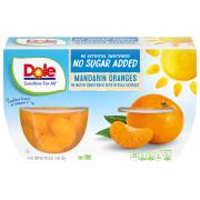 Dole No Sugar Added Mandarin Oranges Bowls