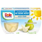 Dole No Sugar Added Diced Pears