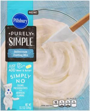 Pillsbury Purely Simple Buttercream Frosting Mix
