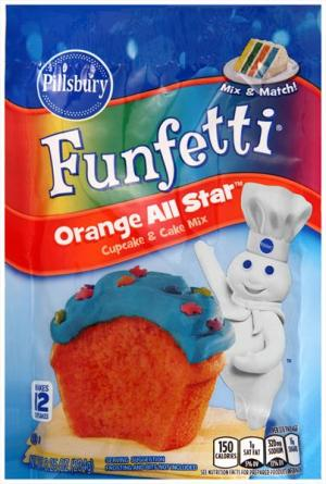 Pillsbury Funfetti Orange All Star Cake Mix Pouch