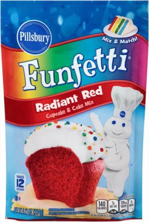 Pillsbury Funfetti Radiant Red Cake Mix Pouch