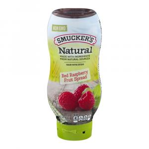 Smucker's Natural Red Raspberry Fruit Spread Squeeze Bottle