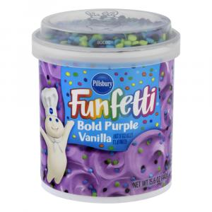 Pillsbury Bold Purple Vanilla Funfetti Frosting